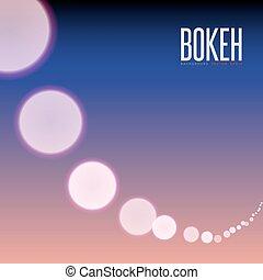 abstratos, efeito, obscurecido, luzes, bokeh, vetorial, fundo, crepúsculo