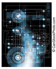 abstratos, eletrônico, fundo