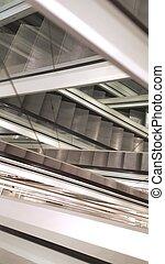 abstratos, escadas rolantes