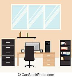 abstratos, escritório, fundo