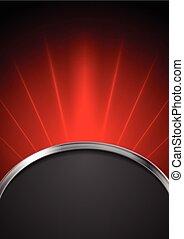 abstratos, escuro, vermelho, tech, fundo