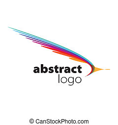 abstratos, espectro, vetorial, folhas, logotipo, curvado