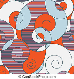 abstratos, espirais, coloridos, seamless