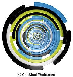 abstratos, espiral, fundo
