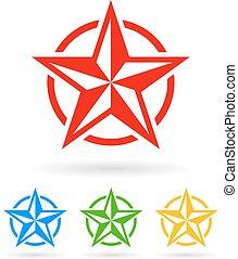 abstratos, estrela, ícone