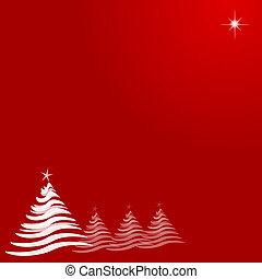 abstratos, estrela, branca, árvores, natal