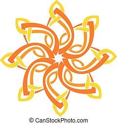 abstratos, estrela, logotipo, desenho, modelo, vetorial