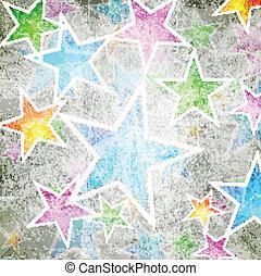abstratos, estrelas, fundo
