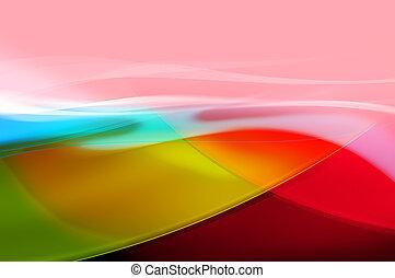 abstratos, experiência colorida, onda, véu, ou, fumaça, textura, -, computador gerou, quadro