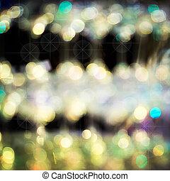 abstratos, experiência dourada