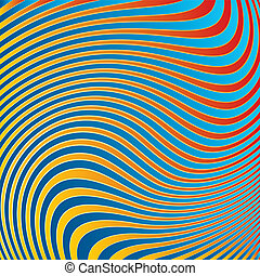 abstratos, experiência., ondas
