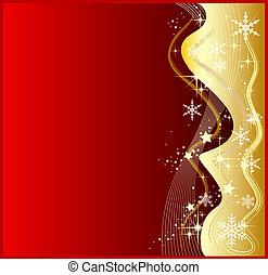 abstratos, experiência vermelha, ilustração, natal