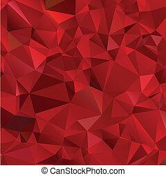 abstratos, experiência vermelha, polígono