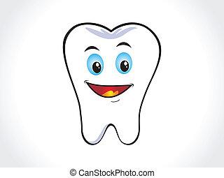 abstratos, feliz, dente