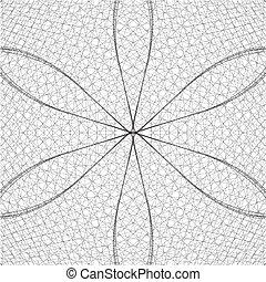 abstratos, fio, rede, estrutura