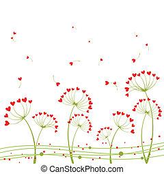 abstratos, flor, amor, springtime