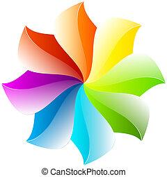 abstratos, flor, desenho, coloridos