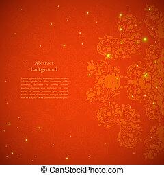 abstratos, flor, experiência vermelha