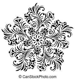 abstratos, flor, fundo branco