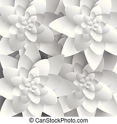 abstratos, flor papel, 3d