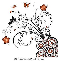 abstratos, floral, caos