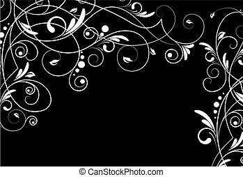 abstratos, floral, experiência.