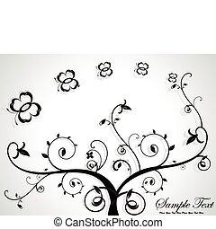 abstratos, floral
