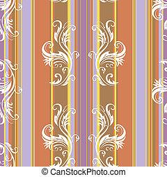 abstratos, floral, listras, fundo, (vector)