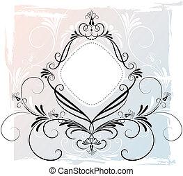 abstratos, floral, ornamento