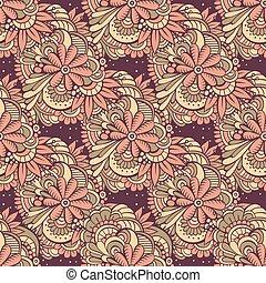 abstratos, flores, pattern., seamless