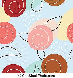 abstratos, flowers., eps10, seamless, textura