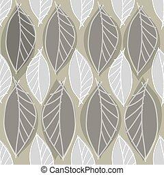 abstratos, folhas, padrão, fundo