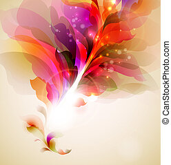 abstratos, folhas