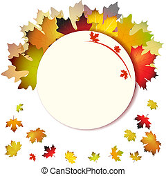 abstratos, folheia, fundo, outono