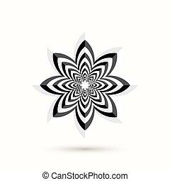 abstratos, -, forma, flower., 3d