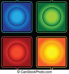 abstratos, forma quadrada