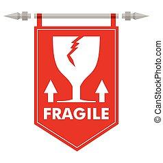 abstratos, frágil, bandeira, sinal