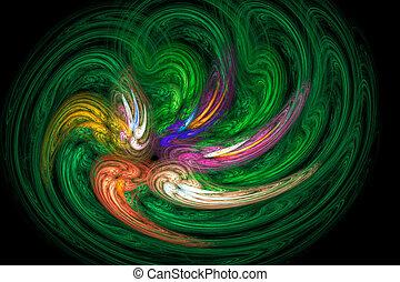 abstratos, :, fractal, imagem, vortex.
