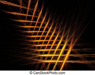 abstratos, fractal, ouro, fundo