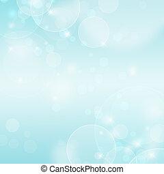 abstratos, fundo, azul, bokeh