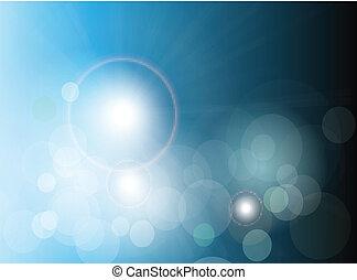 abstratos, fundo, azul