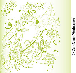 abstratos, fundo, bonito, floral