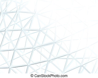 abstratos, fundo branco, com, 3d, lattice