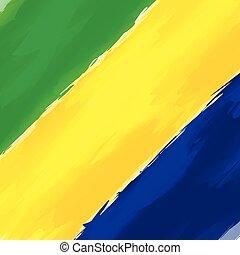 abstratos, fundo, brasil, verde, amarela, azul