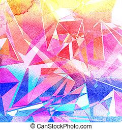 abstratos, fundo, brilho