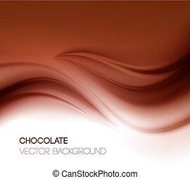 abstratos, fundo, chocolate