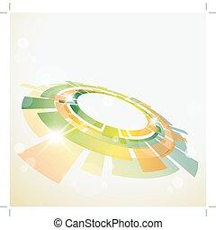 abstratos, fundo, com, 3d, objeto