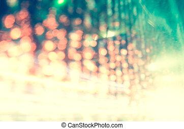 abstratos, fundo, com, bokeh, defocused, luzes
