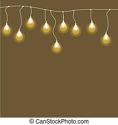 abstratos, fundo, com, bulb.