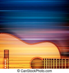 abstratos, fundo, com, guitarra acústica